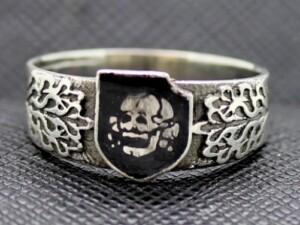 WW2 German ring SS Panzer Division Totenkopf, engrave Himmler