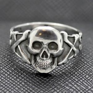 Silver German Skull and Crossbones Ring