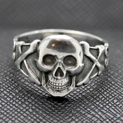 Silver German Skull and Crossbones Ring