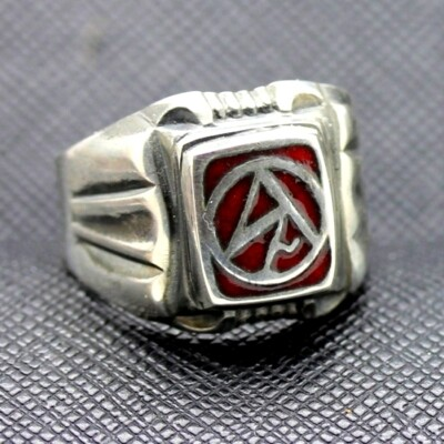 WW2 Sturmabtielung NSDAP Enameled Ring