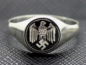 German WW2 Eagle Silver Ring