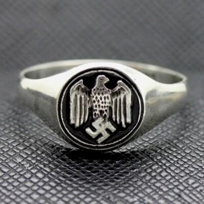 German WW2 Eagle Silver Ring