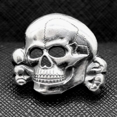 German WW2 Skull from SS cap SILVER