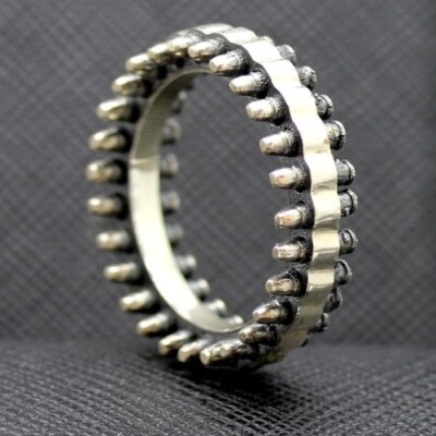Bullets sterling silver ring