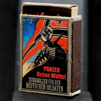 German WW2 Propaganda Matchbox
