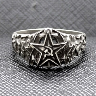 Russian Soviet Red Army Navy Officers Communist Ring