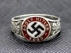 Adolf Hitler 1933 Sterling Silver Ring