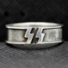 German 12th Panzer Division silver ring