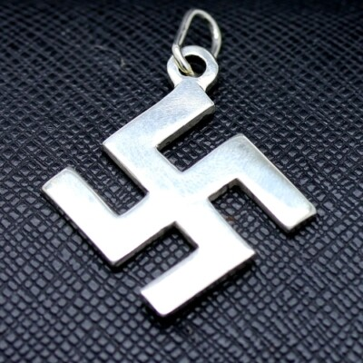 Swastika Silver Pendant